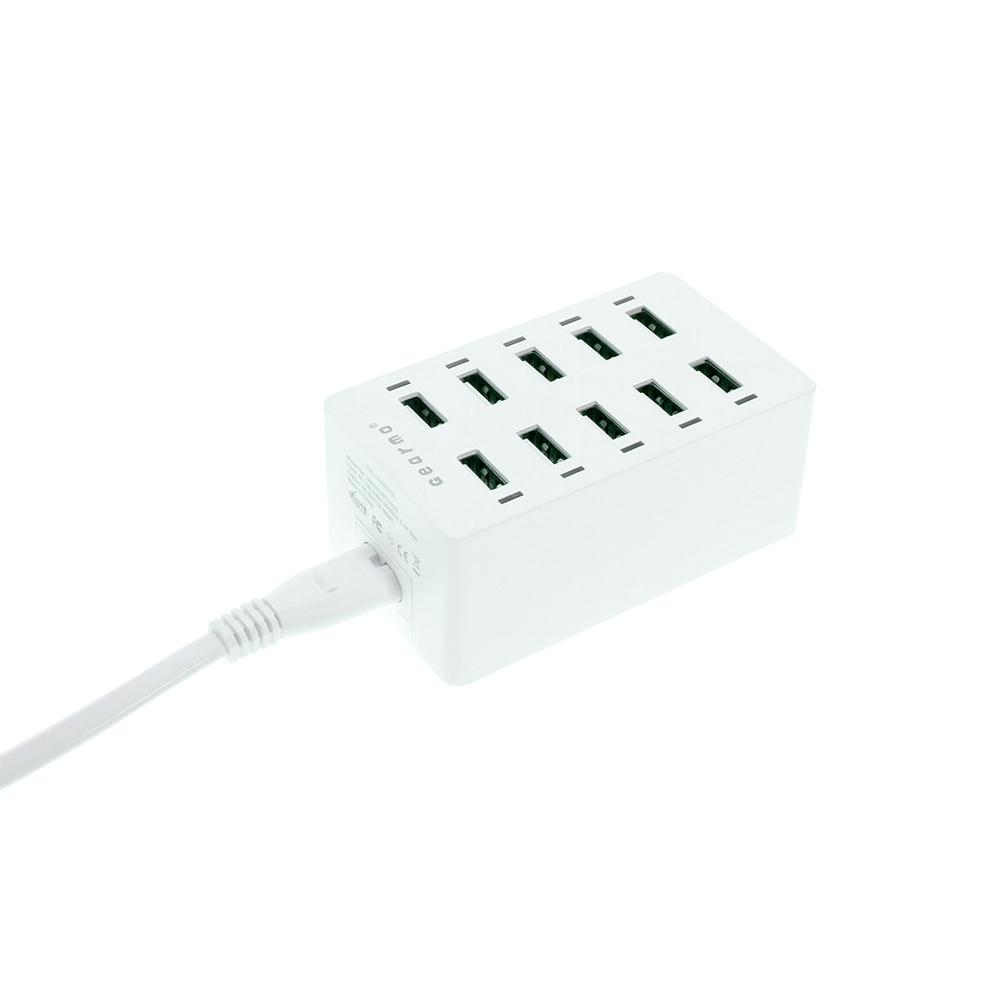 usb 10 port 60w home charger 2 4a per port with smart ic  u0026 led