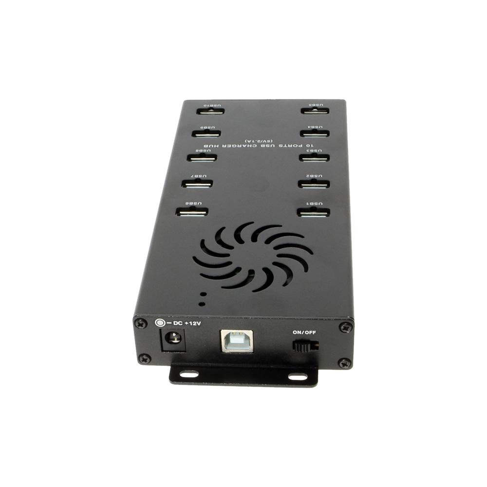 Usb Charging Hub >> Mini 10 Port Usb 2 0 Charger Hub With Led Indicators