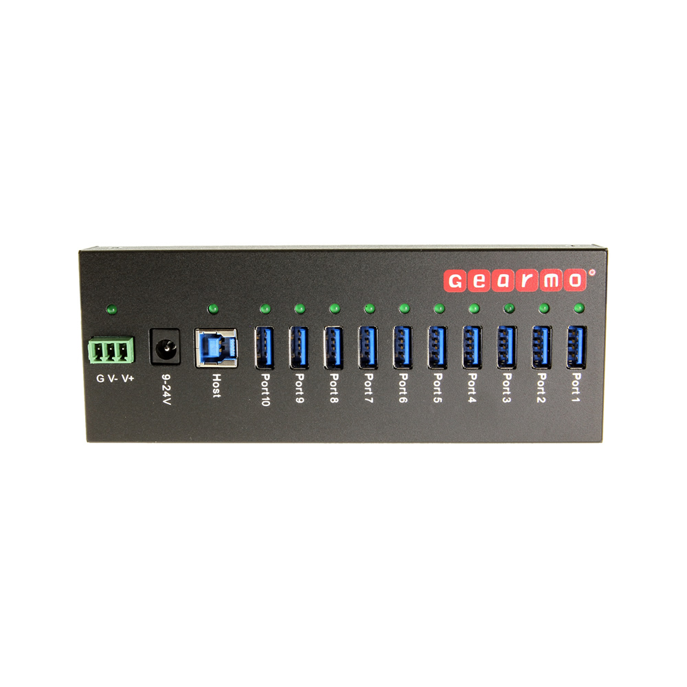 USB 3.0 10 Port Industrial Metal Hub w/15KV ESD Protection & Mounting Only $109.99  at USBGear.com