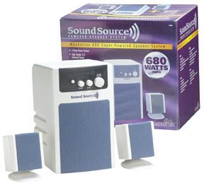 SoundSource 680 3D Powered Speaker Subwoofer System - Image A