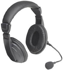 SoundSource Headset Deluxe, Stereo, w/ Microphone - Image A