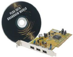 FireWire PCI Card 3 port, with Video Software - Image A