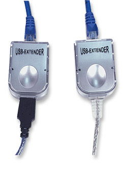 USB 1.1 Line Extender Kit  up to 150ft. via Category 5 Network Cable - Image A
