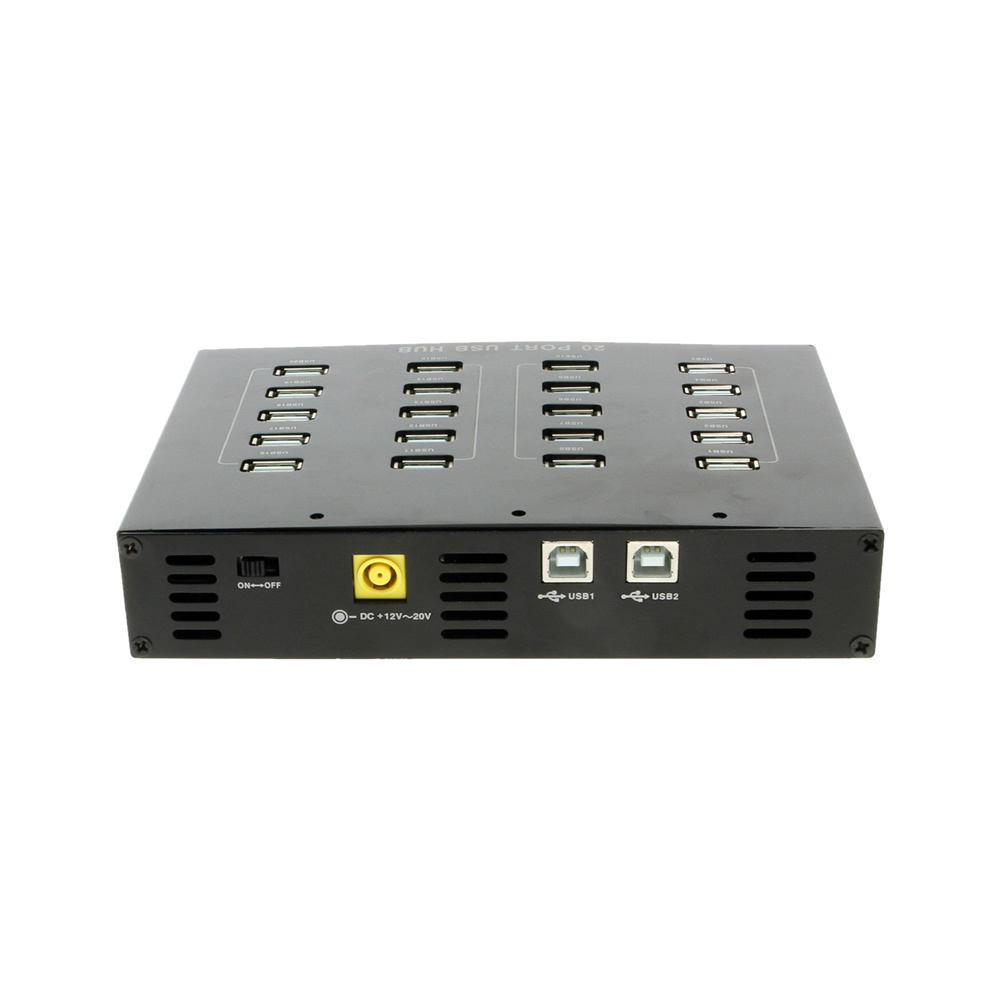 USB 2.0 20-Port Hub with External Power Adapter - Image C