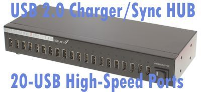 20 port charge and sync hub