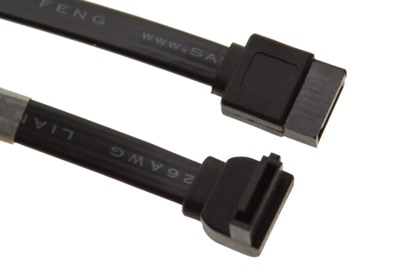 "4"" SATA III Device Cable Straight to Right Angle (SS-01MSR) - Image A"