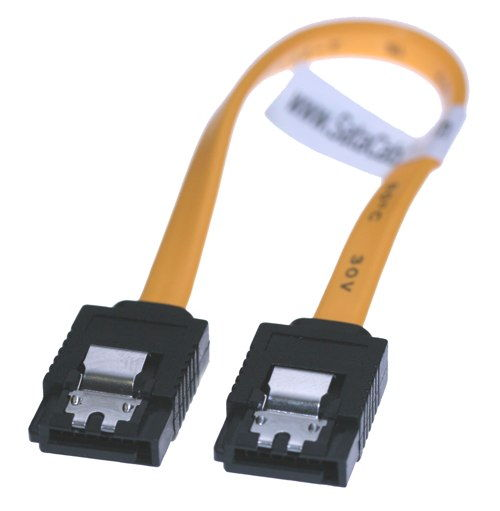 13 Inch SATA II 3Gb/s Latching Data Signal Cable 7-Pin Internal 30AWG - Image B