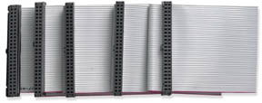 SCSI II Ribbon Cable for 3 Device - Image A