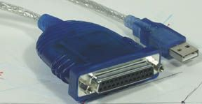 MH Parallel to USB Converter DB25F to USB, 6ft - Image A