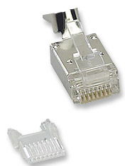 ICN Modular Plug w/insert Cat6,RJ45,Shielded,Stranded Only $0.50  at USBGear.com