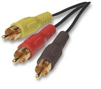 MH Audio / Video Cable RCA Plug, Triple-Triple, 6ft Only $5.90  at USBGear.com