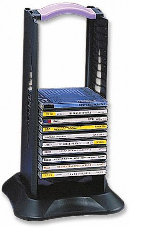 MH Portable CD Rack 20 Piece Capacity