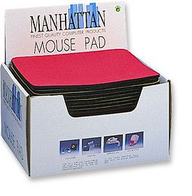MH Mouse Pad Display Box 20 Pieces, Red - Image A