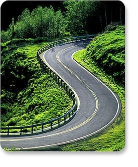 MH Designer Mouse Pad Winding Road - Image A