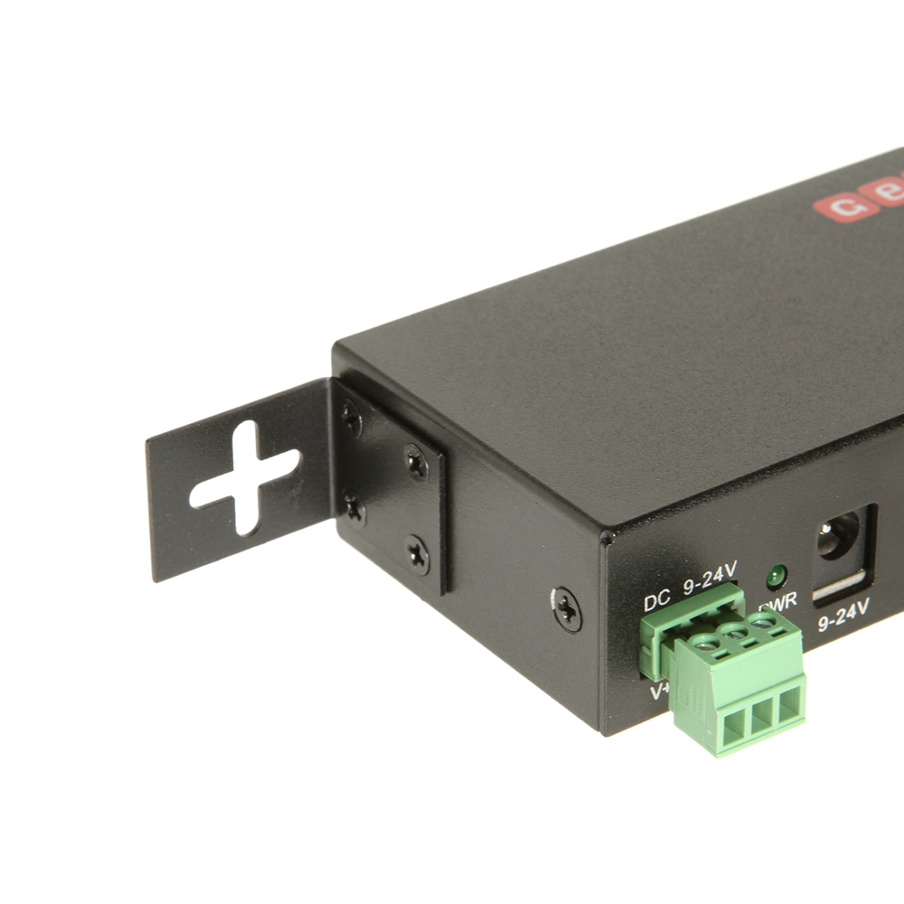 USB 3.0 4 Port Industrial Metal Hub w/15KV ESD Protection - Image C