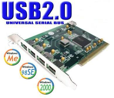 5-Port USB 2.0 High Speed PCI Interface Card for