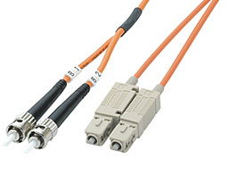 ICN Fiber Optic Patch Cable SC/ST, Duplex, 1m Only $15.50  at USBGear.com