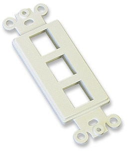 ICN Decora Wallplate Ivory, 3 Outlet Only $2.00  at USBGear.com