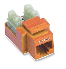 ICN Cat5E Keystone Jack Punchdown, 568A/B, Orange Only $1.90  at USBGear.com