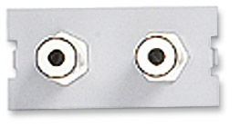 ICN Wall Plate System Dual 3.5mm Stereo Module Only $4.17  at USBGear.com