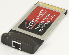 INT Network Adapter PCMCIA, 10/100, RJ45 Only $21.50  at USBGear.com