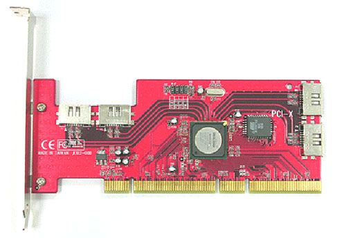 SATA II  150 RAID 4Ports 64bits PCI-X Low Profile Host Only $87.99  at USBGear.com