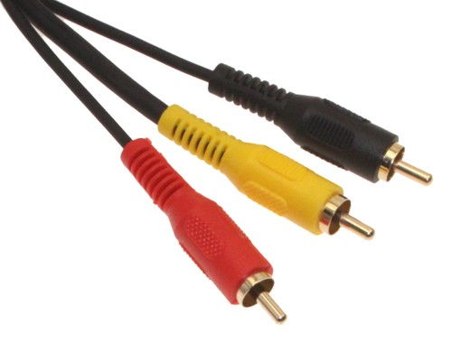 12ft. Stereo / VCR RCA Cable, 2 RCA (Audio) + RCA RG59 Video Gold Plated - Image A