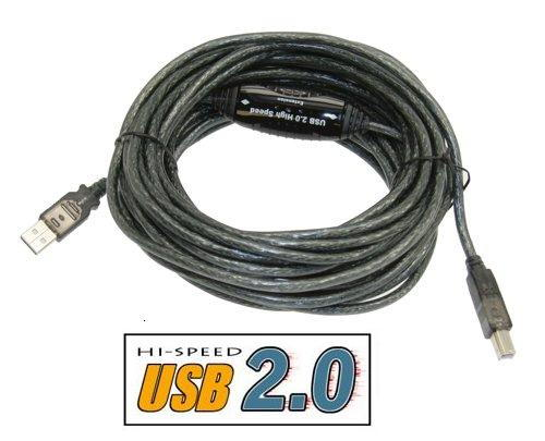 36ft Hi-Speed USB 2.0 Active Cable A Male to B Male, Japan NEC Chip - Image B