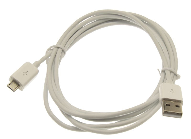 6ft. USB 2.0 Hi-Speed A to Micro B Device Cable Pure White  - Image A