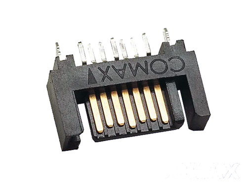7 pin SATA Plug, DIP type 2 in 1 vertical  connector - Image A