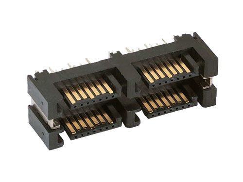 7 pin SATA signal plug, 4 in 1 DIP vertical Type 1 connector - Image A