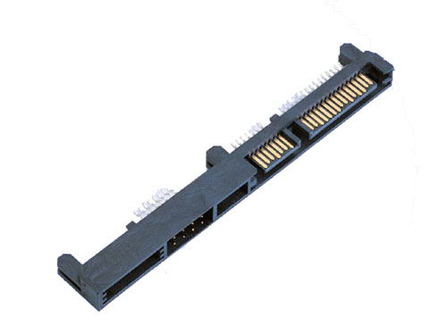 22 pin signal + power (7+15 pins), long edge mount connector - Image A