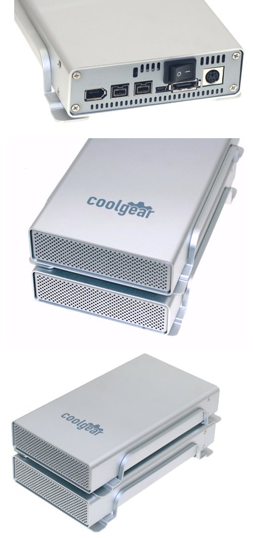 3.5-inch SATA to USB2.0 & FireWire800 & eSATA HDD Enclosure wih FAN - Image B