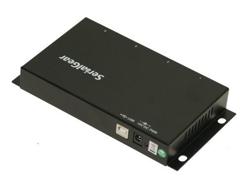 4-Port DB-9 RS232 to USB Adapter with Isolation and Surge Protection - Image C
