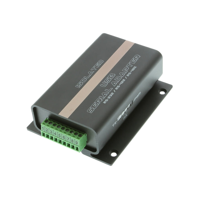 Isolated USB to RS232 RS422 RS485 Mountable Terminal Block Adapter