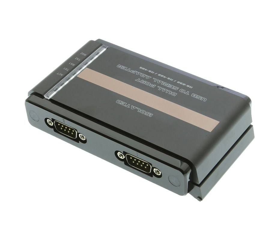 Isolated USB to 2-Port RS232 / 422 / 485 Serial DB-9 Adapter Only $129.99  at USBGear.com