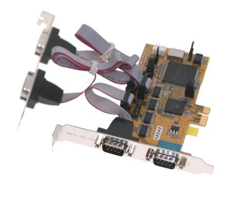 4 port Serial RS-232 I/O PCI-Express 1x Card - Image A