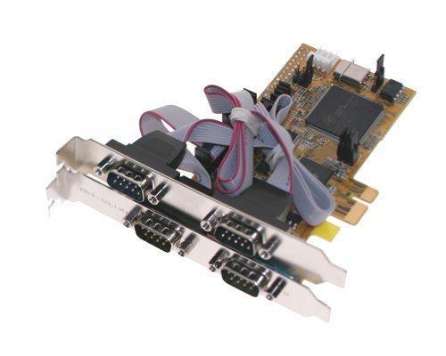 4 port Serial RS-232 I/O PCI-Express 1x Card - Image B