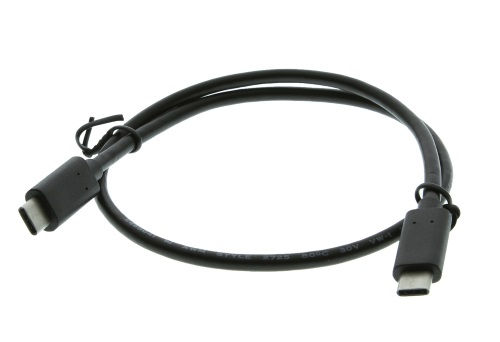 Black 18 inch USB 3.1 Type-C Male to C Male USB Cable - Image B