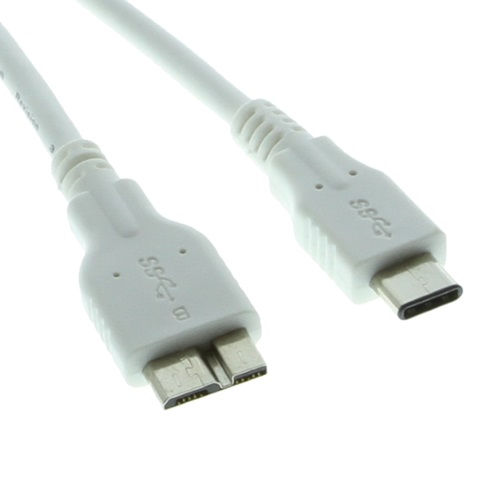 White 3ft USB 3.0 Type-C to Micro-B SuperSpeed cable Only $29.95  at USBGear.com