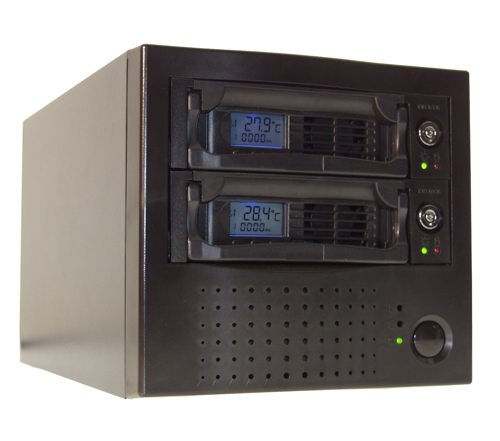 DK6-2B ATA-6 Large Drive Support up to 500GB Dual Bay 5.25 w/ Two Mobile Rack Only $149.98  at USBGear.com