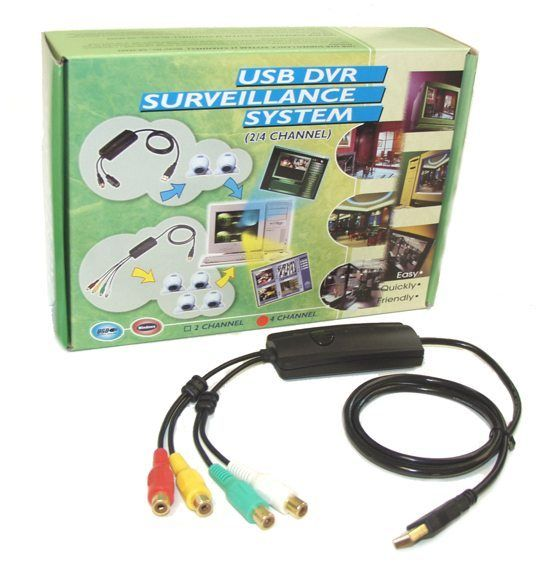 USB Video capture. USB DVR SURVEILLANCE SYSTEM 4 CHANNEL - Image A