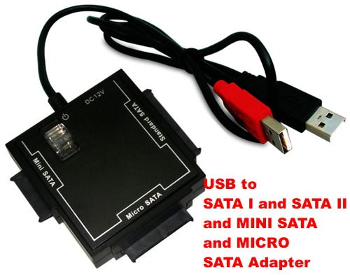 One Adapter for all SATA Devices Including Micro / Mini / Standard Sata I and SATA II Hard Drives Only $29.99  at USBGear.com