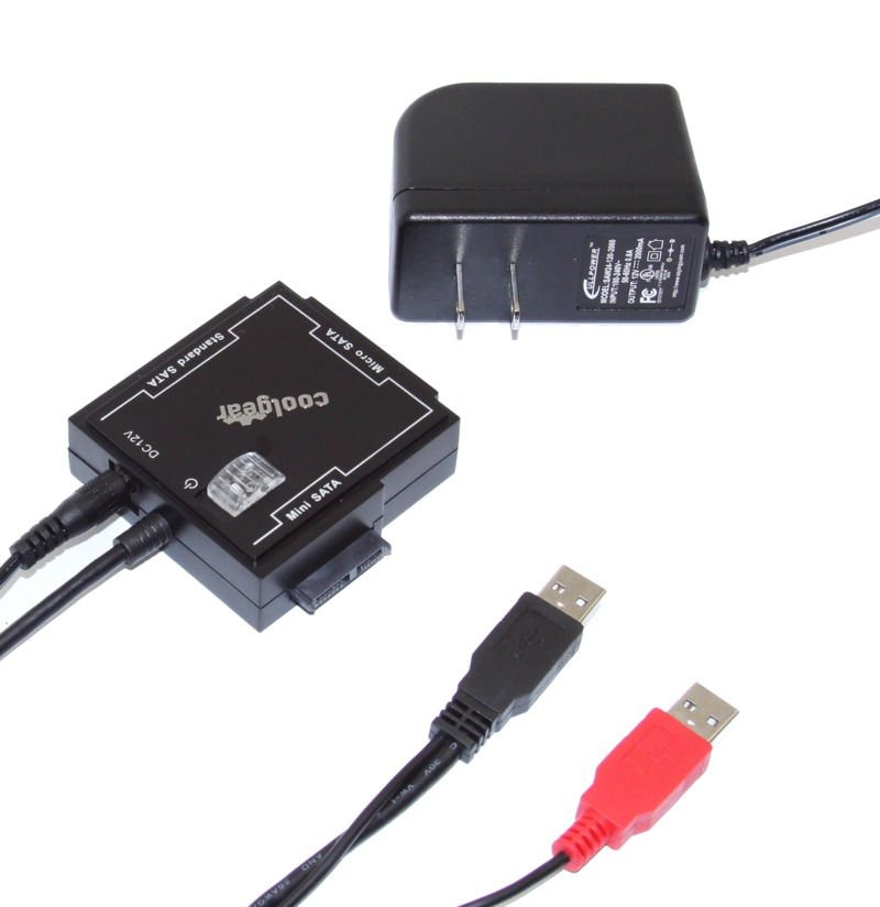 One Adapter for all SATA Devices Including Micro / Mini / Standard Sata I and SATA II Hard Drives - Image B