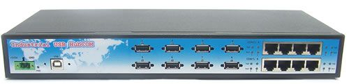 Rack Mountable USB 2.0 to Octal RS-232 Wide Temp Serial Hub Only $299.99  at USBGear.com