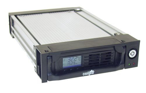 Black  5.25-inch Serial ATA LCD Readout Removable Hard Drive Enclosure Only $34.98  at USBGear.com