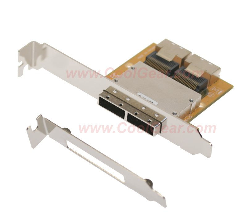 Mini SAS Host PCI Adapter Bracket SFF-8087-SFF-8088 36Hx2-26TX2 - Image A