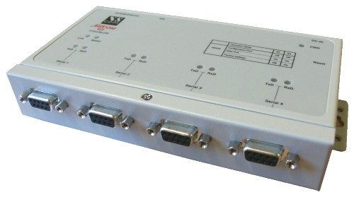 QUAD Port Rs-232/422/485 DB-9 to TCPIP Netcom Advanced Serial Device Server - Image A