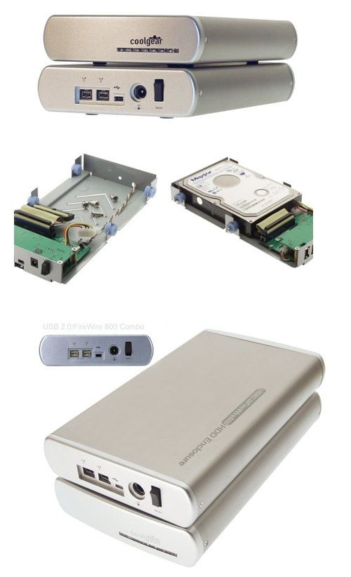 3.5 Inch HDD  Aluminum Oxford 922 Firewire 800 + USB 2.0 Drive Enclosure Only $84.98  at USBGear.com