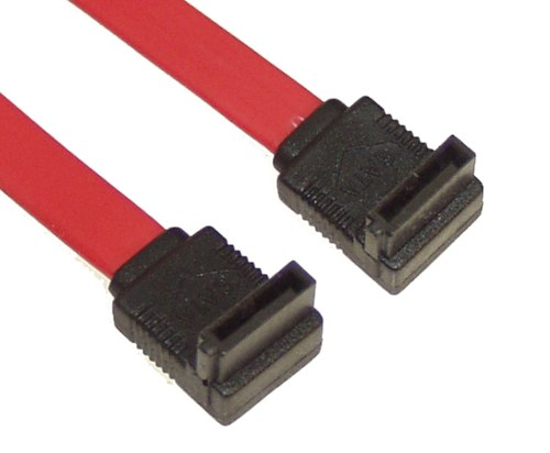 "4"" SATA Device Cable Right to Right Angle - Image A"
